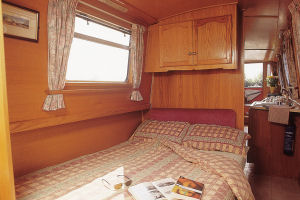bedroom on a boating holiday